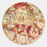 Pegatinas del collage de la tarjeta del día de San Pegatinas Redondas