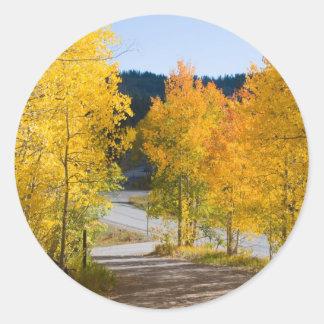 Pegatinas del color de Colorado Pegatina Redonda