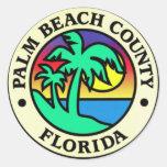 Pegatinas del condado de Palm Beach la Florida