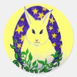 Pegatinas del conejo de conejito de pascua etiqueta redonda