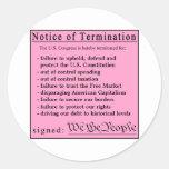 Pegatinas del congreso de la hoja rosa etiquetas redondas
