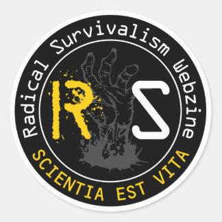 Pegatinas del conocimiento de RSW Pegatina Redonda