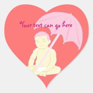 Pegatinas del corazón de la fiesta de bienvenida colcomanias de corazon personalizadas