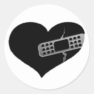 Pegatinas del corazón de la reparación pegatina redonda