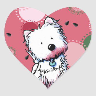 Pegatinas del corazón de la sandía de KiniArt Calcomanía Corazón Personalizadas