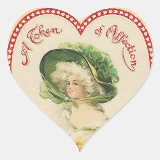 Pegatinas del corazón de la tarjeta del día de San Calcomania De Corazon