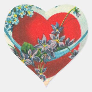 Pegatinas del corazón de la tarjeta del día de San Calcomanías Corazones