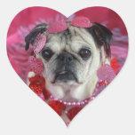 Pegatinas del corazón de la tarjeta del día de San Calcomanía De Corazón
