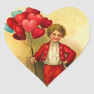 Pegatinas del corazón de la tarjeta del día de San Colcomanias De Corazon