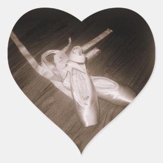 """""""Pegatinas del corazón de los zapatos de dedo del Pegatina En Forma De Corazón"""
