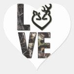 Pegatinas del corazón del amor de Camo del país