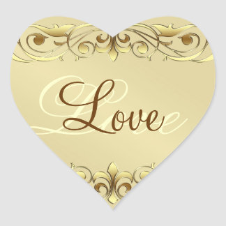 Pegatinas del corazón del amor de la voluta de la pegatinas corazon personalizadas