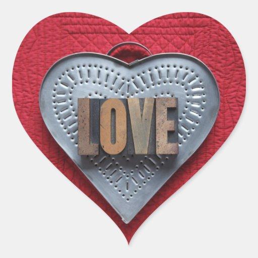 pegatinas del corazón del amor del corazón de la pegatina en forma de corazón