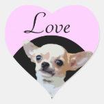Pegatinas del corazón del amor del perro de la calcomania de corazon personalizadas