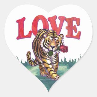 Pegatinas del corazón del amor del tigre calcomanías corazones personalizadas