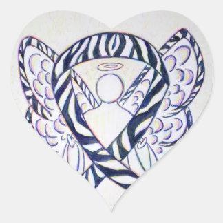 Pegatinas del corazón del ángel de la cinta de la pegatina en forma de corazón