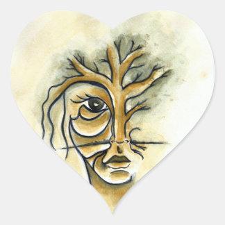 Pegatinas del corazón del árbol calcomania de corazon