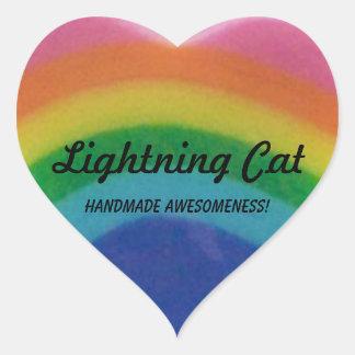 Pegatinas del corazón del arco iris