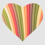 Pegatinas del corazón del arte del arco iris pegatina corazon