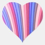 Pegatinas del corazón del arte del arco iris calcomanía de corazón