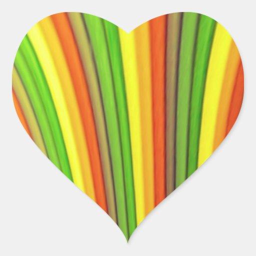 Pegatinas del corazón del arte del arco iris pegatina de corazon personalizadas