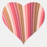 Pegatinas del corazón del arte del arco iris calcomania corazon