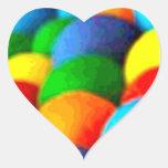 Pegatinas del corazón del arte del arco iris calcomanías corazones