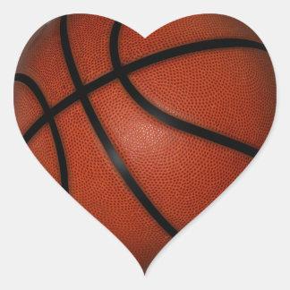 Pegatinas del corazón del baloncesto calcomanías corazones