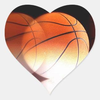 Pegatinas del corazón del baloncesto pegatina corazon