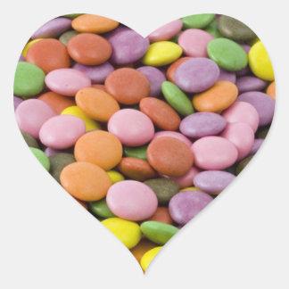 Pegatinas del corazón del caramelo de Pascua Pegatina En Forma De Corazón