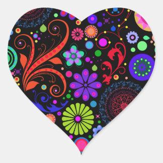 Pegatinas del corazón del caramelo del ojo pegatina en forma de corazón
