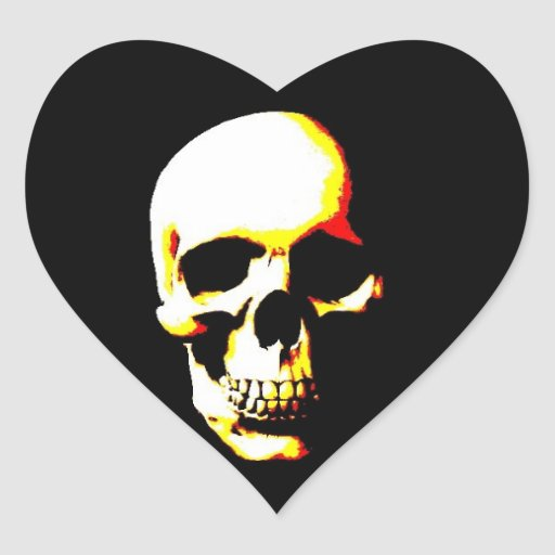 Pegatinas del corazón del cráneo calcomanías corazones