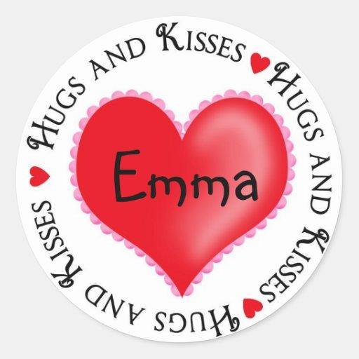 Pegatinas del corazón del día de San Valentín Pegatina Redonda