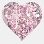 Pegatinas del corazón del diamante de Bubblegum