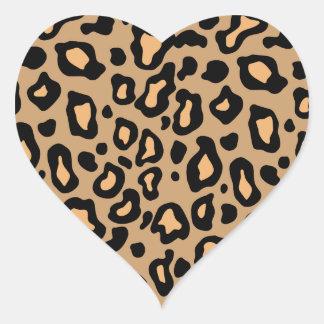 Pegatinas del corazón del estampado de animales de colcomanias de corazon personalizadas