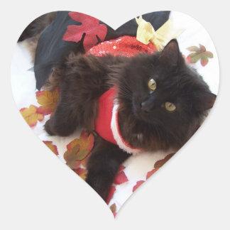 pegatinas del corazón del gatito