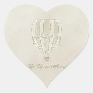 Pegatinas del corazón del globo del aire caliente