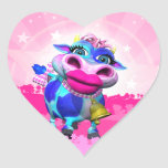 Pegatinas del corazón del MOO de Kissy Pegatina De Corazon Personalizadas