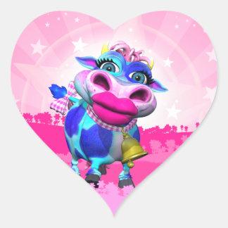 Pegatinas del corazón del MOO de Kissy