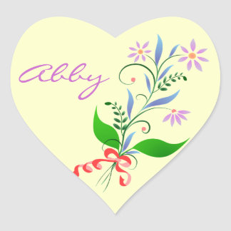 Pegatinas del corazón para Abby Pegatina De Corazón