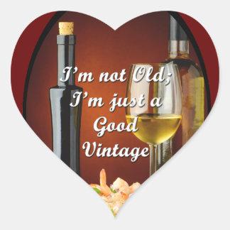 Pegatinas del corazón para los amantes del vino pegatina en forma de corazón