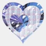 Pegatinas del corazón púrpura calcomania corazon personalizadas