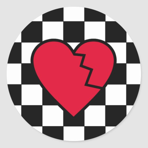 Pegatinas del corazón quebrado de Emo