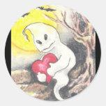 Pegatinas del corazón y del alma pegatina redonda