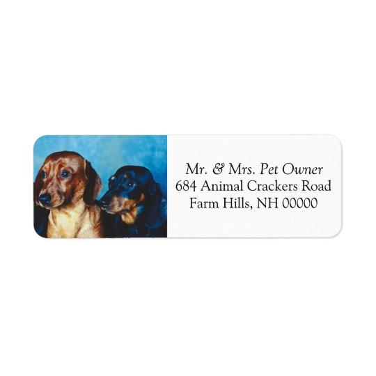 Pegatinas del correo del remite de los perritos etiqueta de remite