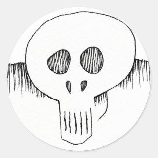 Pegatinas del cráneo pegatina redonda