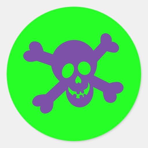 Pegatinas del cráneo de Halloween Pegatina Redonda