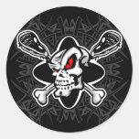 Pegatinas del cráneo de LaCrosse Etiquetas Redondas