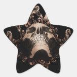 Pegatinas del cráneo del Grunge Pegatina En Forma De Estrella
