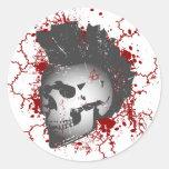 Pegatinas del cráneo del Mohawk de la anarquía